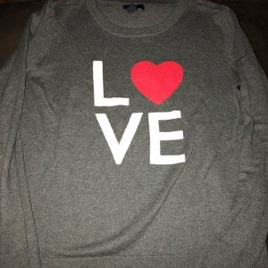 """LOVE"" long sleeve sweater. Size XS"